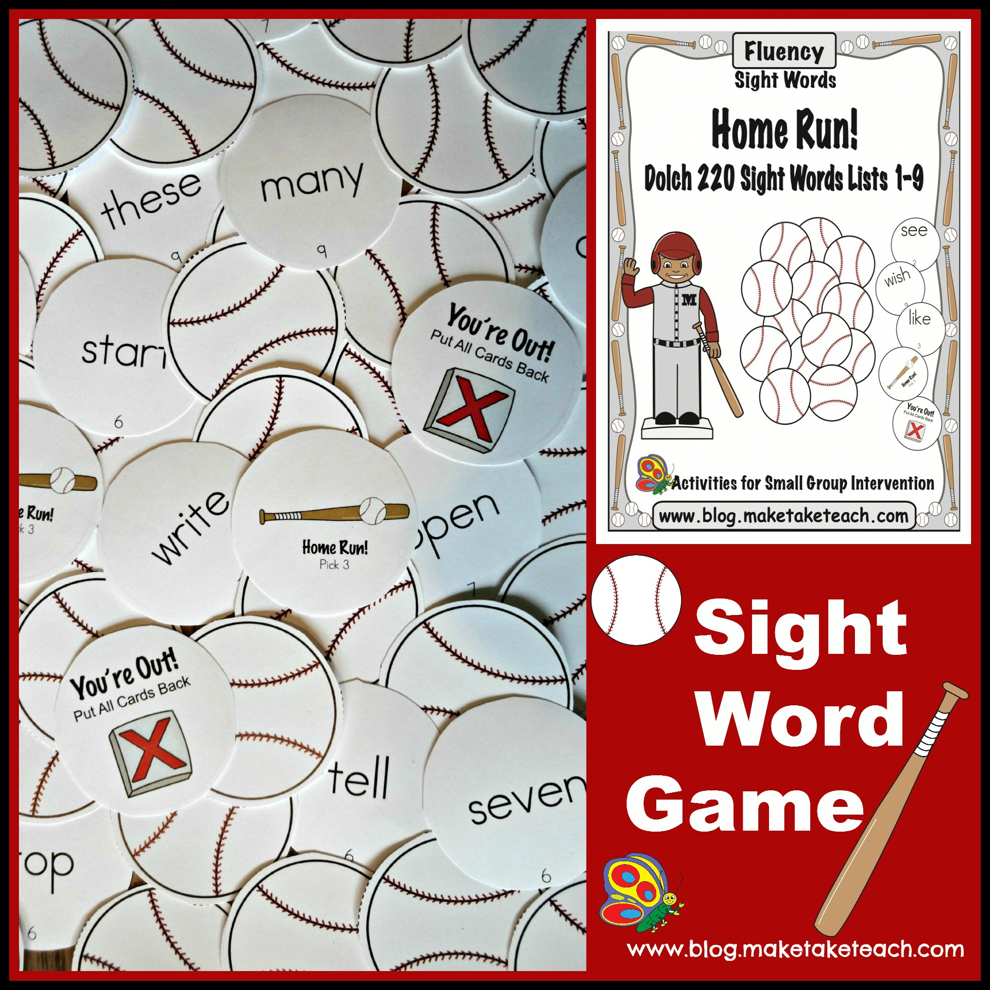photo about Sight Word Games Printable referred to as Sight Phrase Game titles for our Very little Baseball Followers - Generate Get