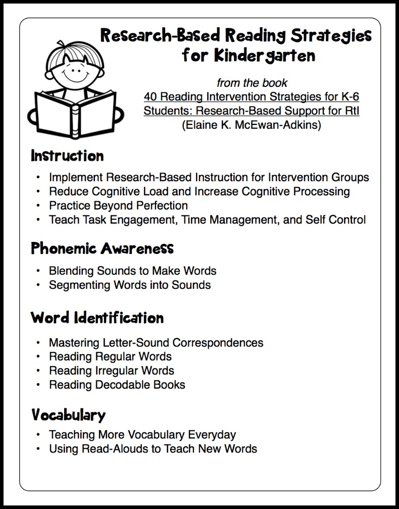 teaching strategies for preschoolers research based reading intervention strategies make take teach