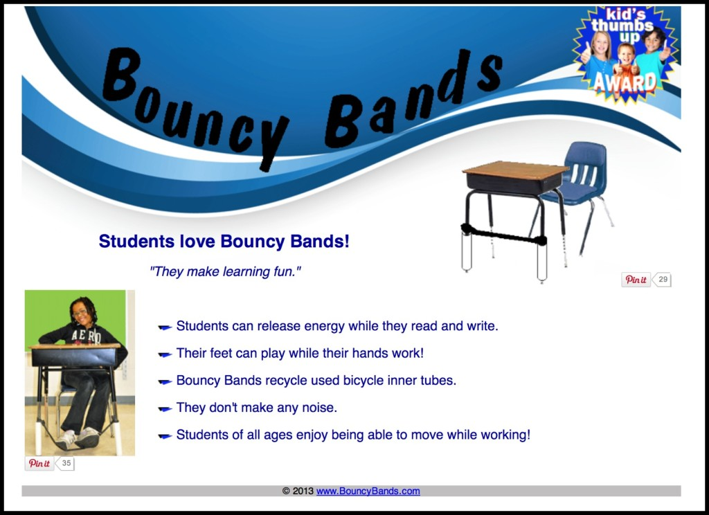 Bouncy Bands Great Tool For Your Students Who Need To