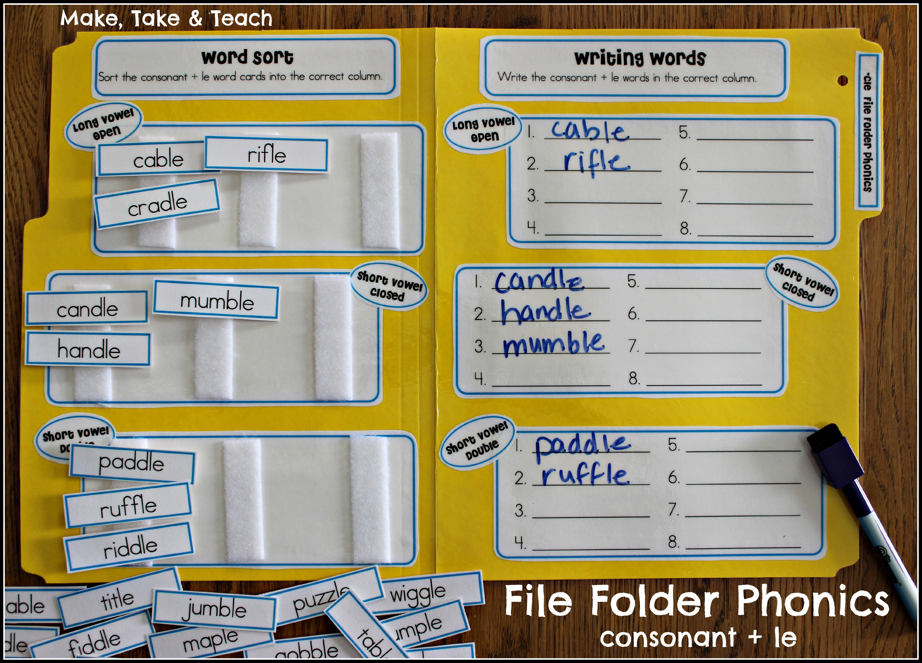 image about Free Printable File Folder Games identify Report Folder Phonics - Crank out Choose Prepare