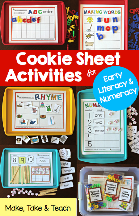 Cookie Sheet Activities Pre K- K Bundle- Early Literacy and Numeracy