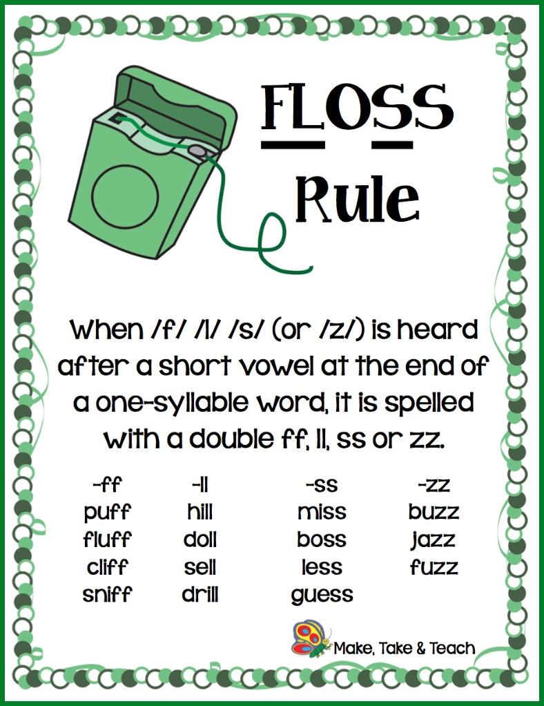 The FLOSS Rule - Make Take & Teach