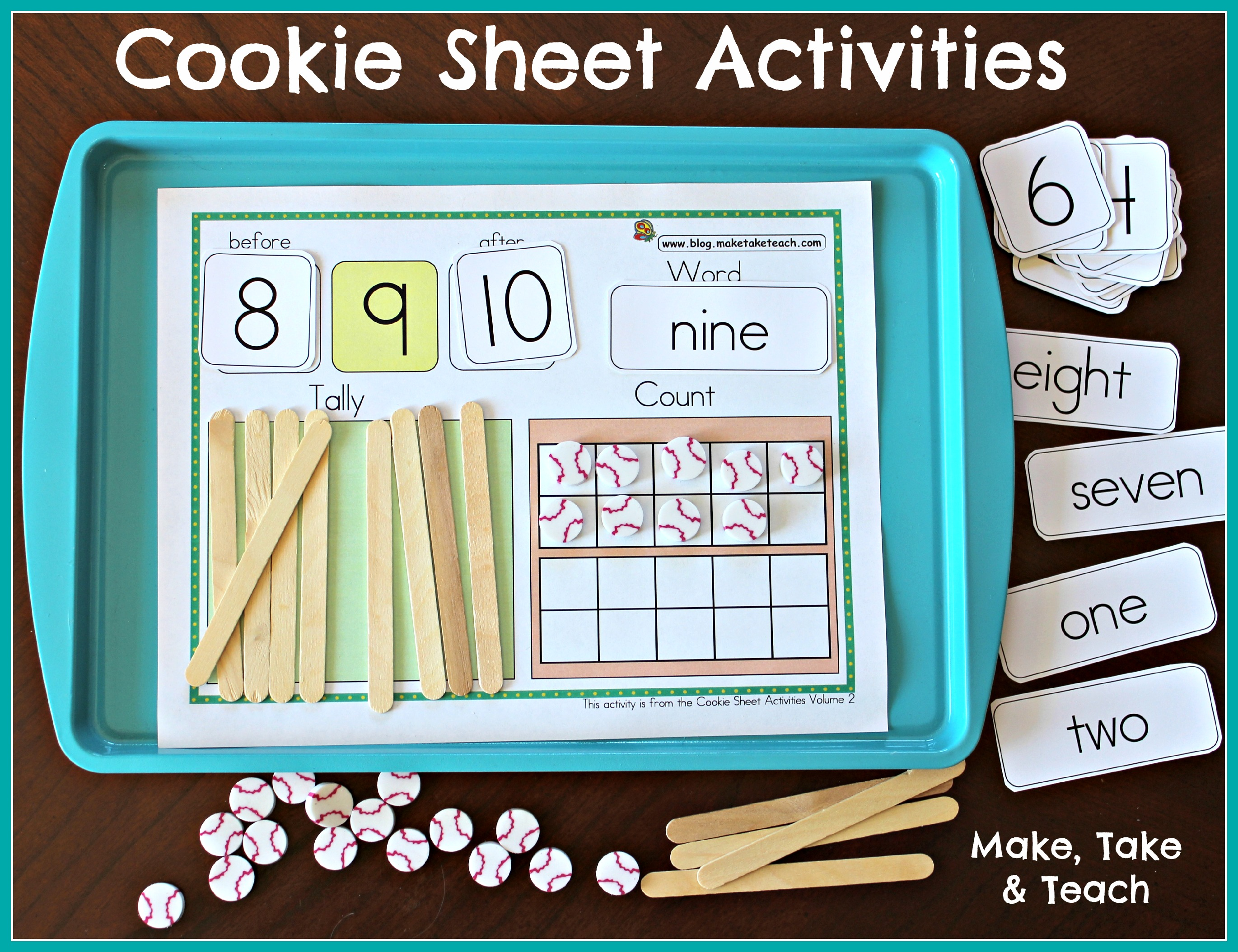 Cookie Sheet Activities Pre K- K Bundle- Early Literacy and ...