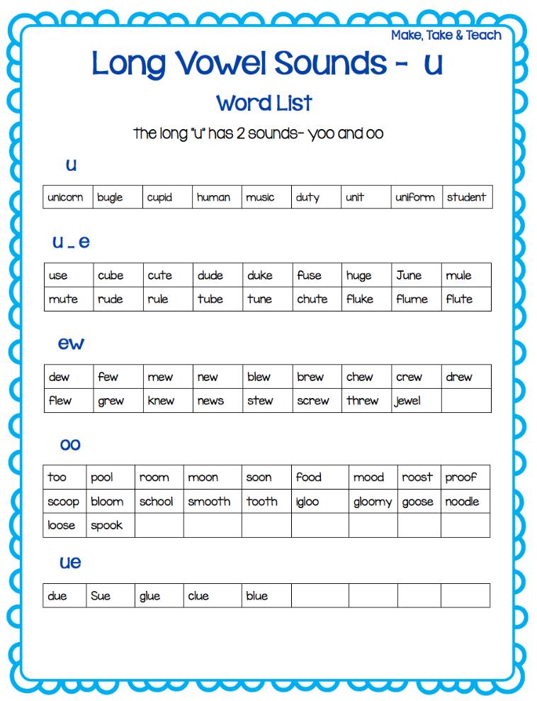 Teaching Long Vowel Spelling Patterns - Make Take & Teach