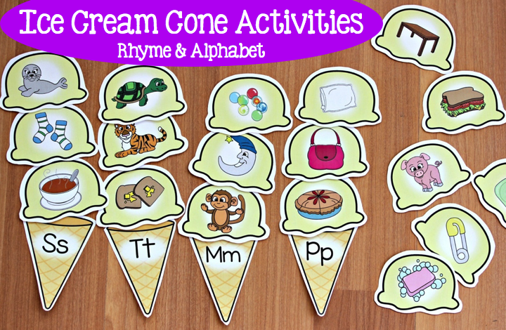 Ice Cream Activities For Rhyme And The Alphabet Make