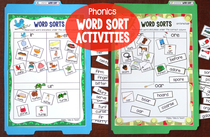 image about Word Sorts Printable named Phonics Centered Phrase Sorting Routines - Crank out Consider Prepare