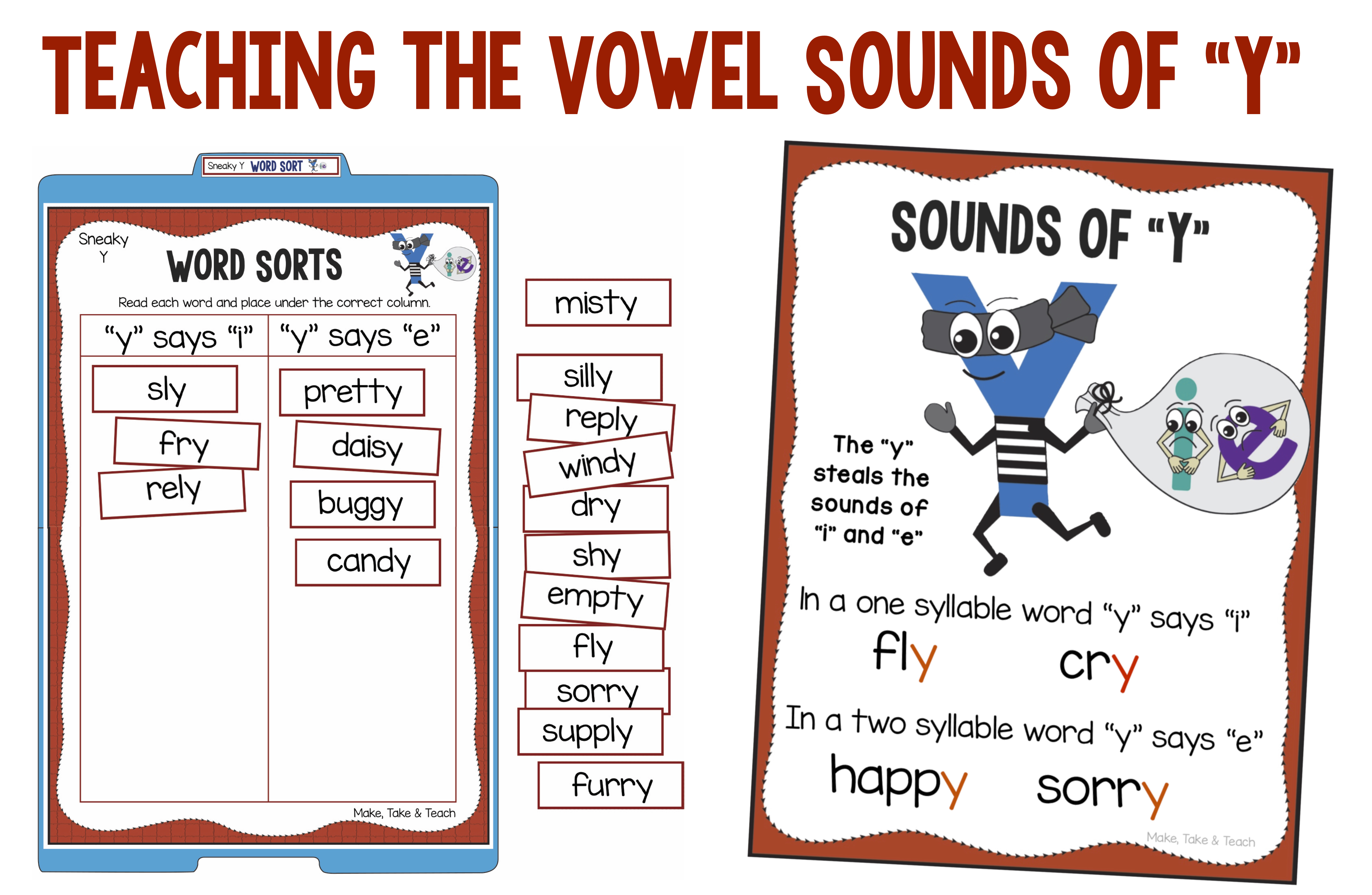 Vowel Sounds Of The Letter Y Make Take Teach