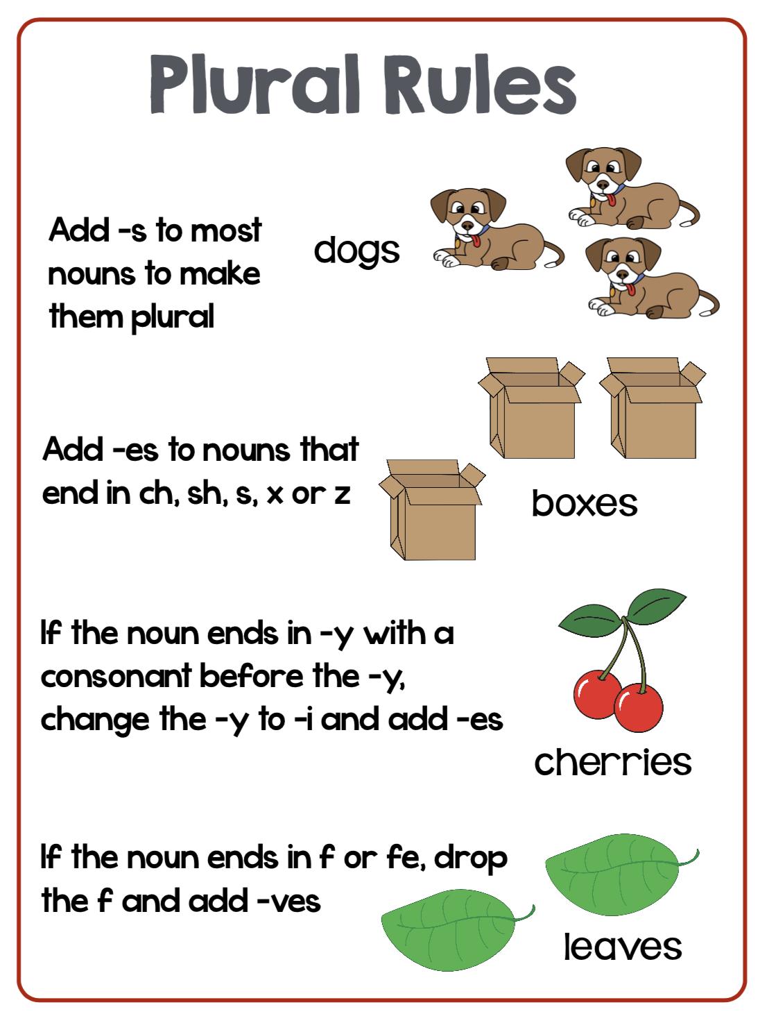 File Folder Phonics - Teaching Plurals - Make Take & Teach