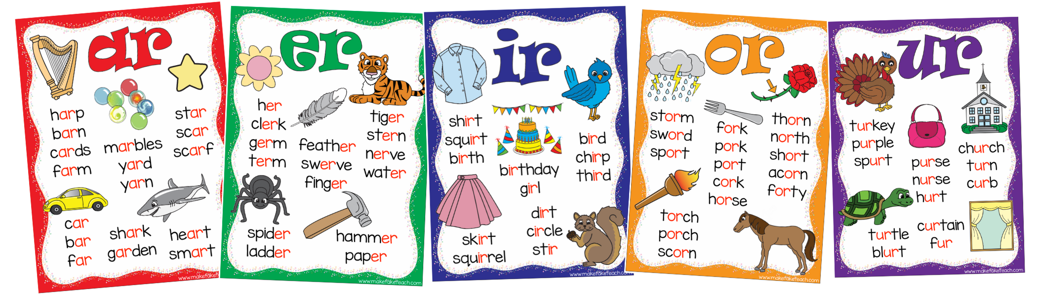 FREE R Controlled Vowels Posters! - Make Take & Teach
